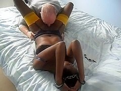 tied with nipple and pussy play