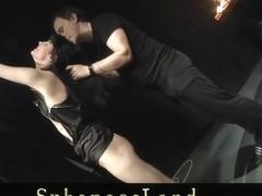 Hardcore slave gets rude treated and deepthroat fucked