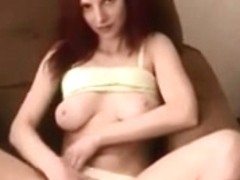 Non-Professional redhead sweetheart drilled on real homemade