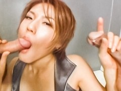 Best Japanese model in Crazy JAV uncensored Threesomes video