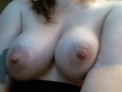 Milk dripping nipples on cock tease girl