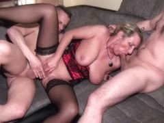 Insatiable German mature with big tits and pierced nipples, Jenny had sex with her best friend