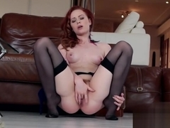 Redhead girl foot fetish and cumshot