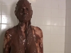 Mindi Mink Covered In Goo In Dirty Shower