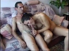 Large dicked old man fucking a chick