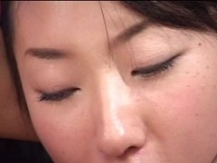 Japanese lesbian babes anal play