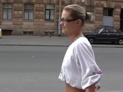 Street oral stimulation and bedroom fuck for superlatively good bra buddies dilettante gadget