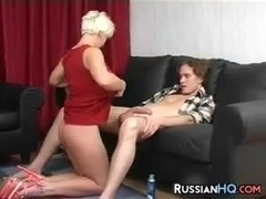 Russian Whore Giving A Blowjob