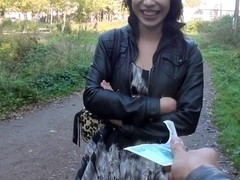 Lina in hardcore shag scene in an outdoor sex vid