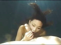 Oriental Girl Underwater Blow Job