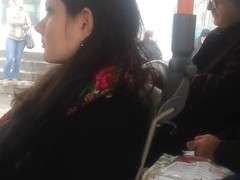 spy sexy teens in bus romanian