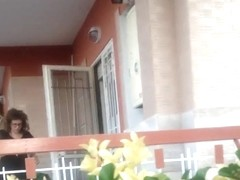 voyeur balcony sex girl