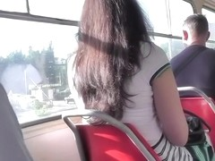 Nice-Looking dark brown upskirt episode