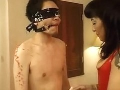 Japanese domina gives her thrall a nasty treatment