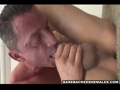 Shemale Enjoy Barebacked Fucked And Sucked Big Cock