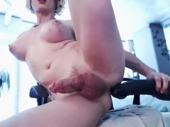 Exotic Amateur Shemale record with Big Tits, Dildos/Toys scenes