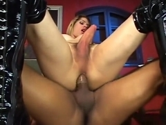 Amazing Homemade Shemale clip with Guy Fucks Shemale, Interracial scenes