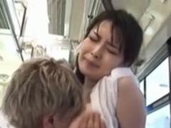 girl with wet t-shirt groped on bus