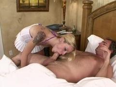Crazy pornstar Faye Runaway in horny college, blonde porn scene