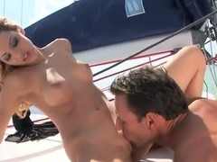 Cindy Hope and dude are fucking on his yacht
