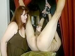 Femdom female-dom enjoying a infirm large pecker