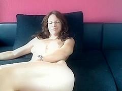 Handling my sex dildo with joy