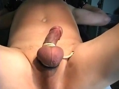 flyboy is released from 15 day chastity lock up. LARGE CUM.