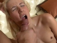Hot golden-haired anal and riding a jock