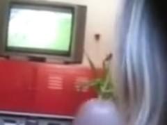 Lewd Non-Professional Pair Football and Fucking POV