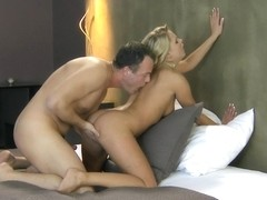 Blonde milf receives cunnilingus and sucks a big peter