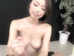 Fabulous Japanese girl in Exotic Handjob, POV JAV clip