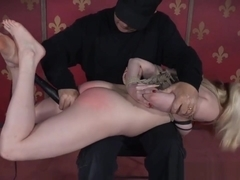 Bdsm Submissive Hogtied And Toyed By Maledom