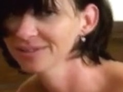 Alluring MILF gets double pussy penetration