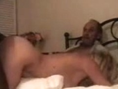Dilettante wife has a great time with dark man in front of hubby