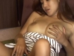 Busty solo asian orgasms