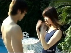 Guy perverts innocent Japanese schoolgirl in the ###lside