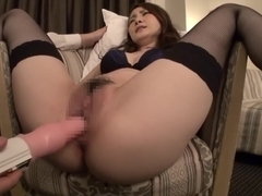 Horny Japanese slut in Exotic Stockings, HD JAV clip