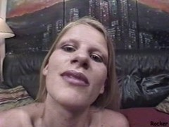 This bimbo likes rough sex . she awards it with facial