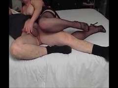 Naughty Auntie Fanny's Seductive Footjob
