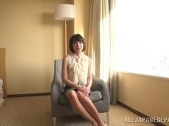 Arousing Japanese AV Model enjoys fingering and cock sucking