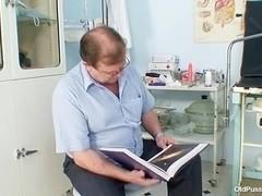 Milf hairy pussy gyno examination in hospital