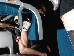 Train Perving - Teen with Amazing Legs