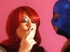 Tina Snua & Her Serf Sharing Smoky Kisses - Smokin' Fetish