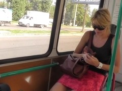 Hawt g-strings upskirt vid with a golden-haired
