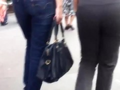 Ass voyeur 21 - Ass with tanga  (+ ugly face)