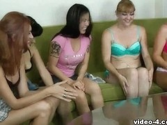 Strip Screw Your Neighbor with Lakota, Hannah, Siren, Michelle, and Ashley