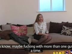 FakeAgentUK Amateur girl orgasms and squirts all over