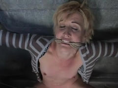 Dylan, new to Hogtied but not to squirting orgasms