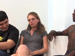 Spectacled Jenny Leigh fucks with black man