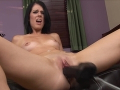 Brutal dildos fucking machine pounds her wet crack in HD